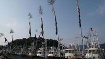 新春の室津漁港